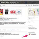 Google Places, now Google+ Local listing that hasn't been claimed.